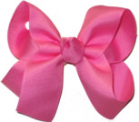 Medium Solid Color Bow Hot Pink