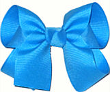 Medium Solid Color Bow Island Blue