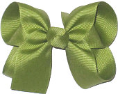 Medium Solid Color Bow Jungle Green