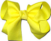 Medium Solid Color Bow Lemon