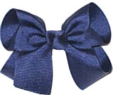 Medium Solid Color Bow Light Navy