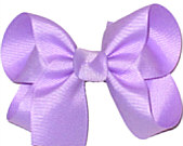 Medium Solid Color Bow Light Orchid