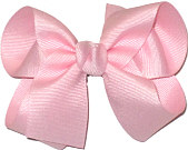 Medium Solid Color Bow Light Pink