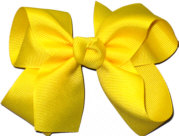 Medium Solid Color Bow Maize