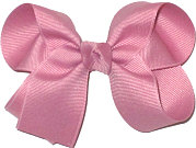 Medium Solid Color Bow Mauve