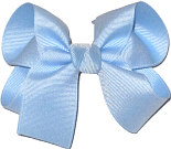 Medium Solid Color Bow Millenium Blue