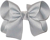 Medium Solid Color Bow Millenium Gray