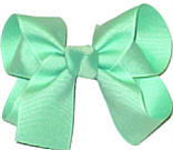 Medium Solid Color Bow Mint