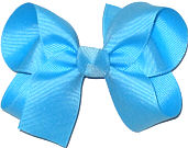 Medium Solid Color Bow Mystic Blue