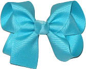 Medium Solid Color Bow Navajo Turquoise
