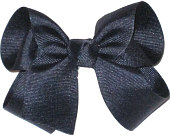 Medium Solid Color Bow Navy
