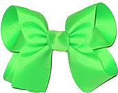 Medium Solid Color Bow Neon Green