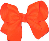 Medium Solid Color Bow Neon Orange