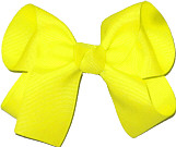 Medium Solid Color Bow Neon Yellow