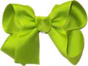 Medium Solid Color Bow New Lime