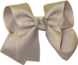 Medium Solid Color Bow Oatmeal