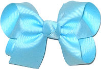 Medium Solid Color Bow Ocean Blue