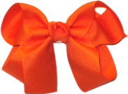 Medium Solid Color Bow Orange