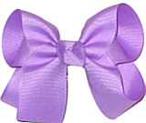 Medium Solid Color Bow Orchid