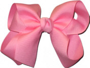 Medium Solid Color Bow Pink