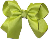 Medium Solid Color Bow Pistachio