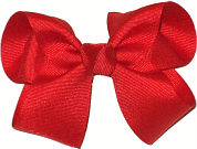 Medium Solid Color Bow Red