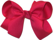 Medium Solid Color Bow Sarsaparilla