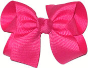 Medium Solid Color Bow Shocking Pink
