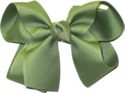 Medium Solid Color Bow Spring Moss