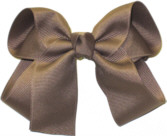 Medium Solid Color Bow Taupe