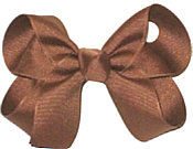 Medium Solid Color Bow Turftan