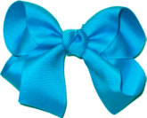 Medium Solid Color Bow Turquoise