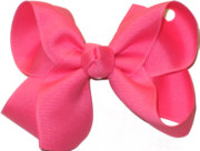 Medium Solid Color Bow Tutti Fruity