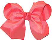 Medium Solid Color Bow Watermelon