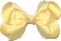 Medium Solid Color Bow Wheat