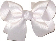 Medium Solid Color Bow White