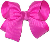Medium Solid Color Bow Wild Berry