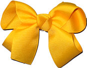 Medium Solid Color Bow Yellow Gold