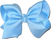 Toddler Solid Color Bow 312 Blue