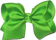 Toddler Solid Color Bow Apple Green