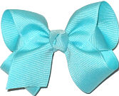 Toddler Solid Color Bow Aqua