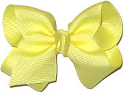 Toddler Solid Color Bow Baby Maize