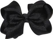 Toddler Solid Color Bow Black