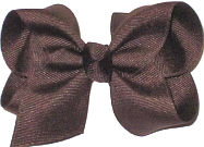 Toddler Solid Color Bow Brown