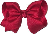 Toddler Solid Color Bow Cranberry