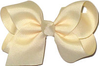 Toddler Solid Color Bow Creme