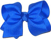 Toddler Solid Color Bow Electric Blue