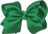 Toddler Solid Color Bow Emerald