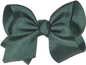 Toddler Solid Color Bow Evergreen