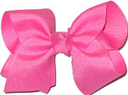 Toddler Solid Color Bow Hot Pink